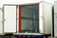 ПВХ завеса в контейнере